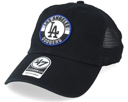 Los Angeles Dodgers Clean Up Mesh Black Trucker - 47 Brand
