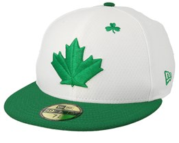 Toronto Blue Jays MLB19 Low Profile Of St. Pats Day White/Green Fitted - New Era