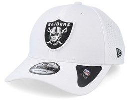 Oakland Raiders Poly Perf 9Forty White Adjustable - New Era
