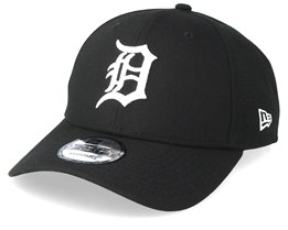 Detroit Tigers Poly Perf 9Forty Black Adjustable - New Era