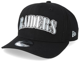 Oakland Raiders NFL Pre Curved 9Fifty Black Adjustable - New Era