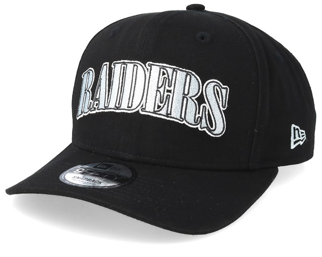 best loved 8a7f6 5d03a Oakland Raiders NFL Pre Curved 9Fifty Black Adjustable - New Era