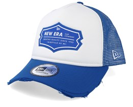 NE Patch White/Royal Blue Trucker - New Era