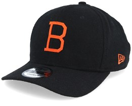 finest selection 9bc6b 792c2 Baltimore Orioles Coop Flannel Pre Curved 9Fifty Black Orange Adjustable - New  Era