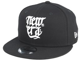 Script 9Fifty Black/White Snapback - New Era