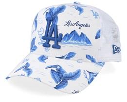 Los Angeles Dodgers Desert Island Grey/Blue/White Trucker - New Era
