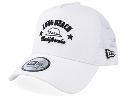 Long Beach California White Trucker - New Era