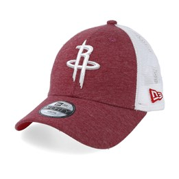 half off 2ddb0 10877 NEW. New Era Kids Houston Rockets Summer League 9Forty Red White Trucker ...