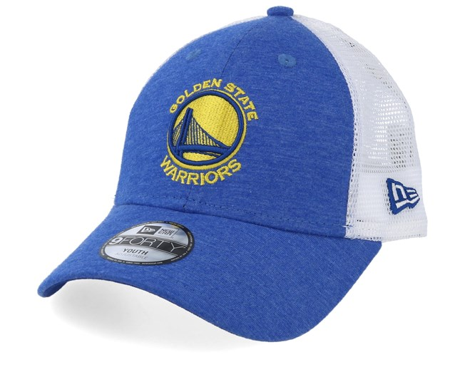check out fd8c2 67b3a Kids Golden State Warriors Summer League 9Forty Royal White Trucker - New  Era
