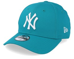 Kids New York Yankees League Essential 9Forty Teal/White Adjustable - New Era