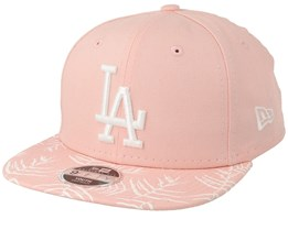 Los Angeles Dodgers Kids Palm Print 9Fifty Pink Snapback - New Era