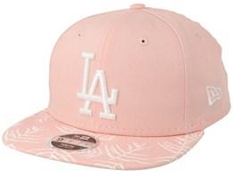 Los Angeles Dodgers Kids Palm Print 9Fifty Pink Snapback - New Era