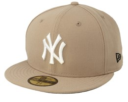 New York Yankees Seasonal 59Fifty Camel/White Fitted - New Era