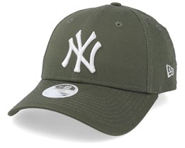 New York Yankees Womens League Essential 9Forty Olive/White Adjustable - New Era