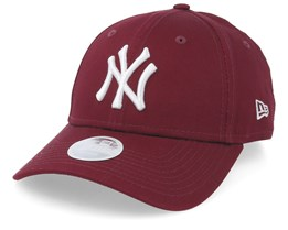 New York Yankees Womens League Essential 9Forty Maroon/White Adjustable - New Era