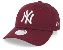 52da29c9 New York Yankees Womens League Essential 9Forty Maroon/White Adjustable - New  Era
