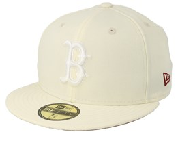 4febd2ac Boston Red Sox League Essential 59Fifty Off White/White Fitted - New Era