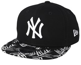 Kids New York Yankees Palm Print 9Fifty Black/White Snapback - New Era