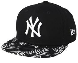 d578bb8b8de Kids New York Yankees Palm Print 9Fifty Black/White Snapback - New Era