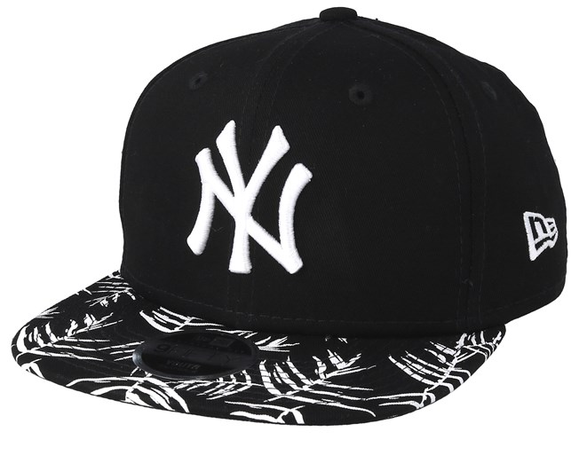 4b2409b5435112 Kids New York Yankees Palm Print 9Fifty Black/White Snapback - New Era