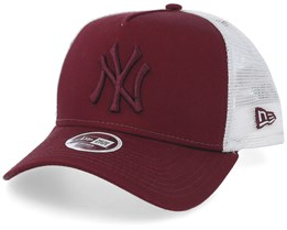 New York Yankees Womens Essential Maroon/White Trucker - New Era
