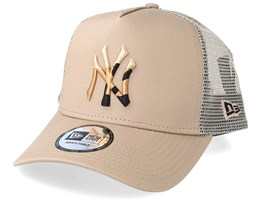 New York Yankees Camo Infill Camel Trucker - New Era