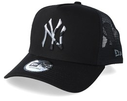 New York Yankees Camo Infill Black Trucker - New Era