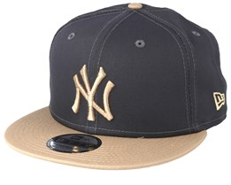 reputable site ef92b fc935 New York Yankees Essential 9Fifty Dark Grey Camel Snapback - New Era