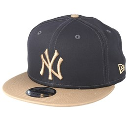 check out c5701 6899b New York Yankees Essential 9Fifty Dark Grey Camel Snapback - New Era caps    Hatstore.co.uk