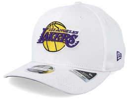 LA Lakers Stretch Snap 9Fifty White Adjustable - New Era