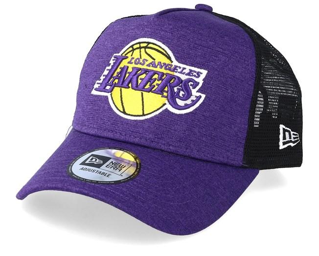 watch 65d4b 76de3 LA Lakers Shadow Tech Purple Black Trucker - New Era