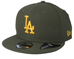 huge selection of d5e00 406c5 Los Angeles Dodgers Diamond Era 9Fifty Olive Yellow Snapback - New Era