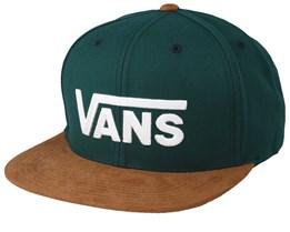 Drop V II Green/Camel Snapback - Vans
