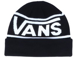 Drop V Stripe Black/White Cuff - Vans