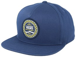 Checkered Side Navy Snapback - Vans