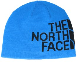 Reversible Banner Light Blue/Black Beanie - The North Face