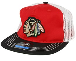 Kids Chicago Blackhawks Red/black Trucker - Outerstuff
