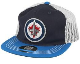 Kids Winnipeg Jets Navy/Blue Trucker - Outerstuff