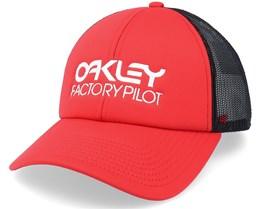 Factory Pilot Hat Red Line/Black Trucker - Oakley