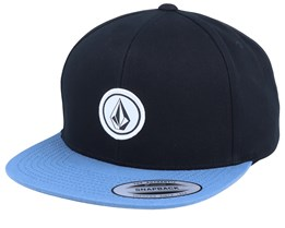 Quarter Twill Black/Blue Snapback - Volcom