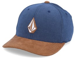 Full Stone Navy/Suede Brown Flexfit - Volcom