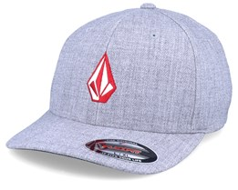 Full Stone Heather Grey/Red Flexfit - Volcom