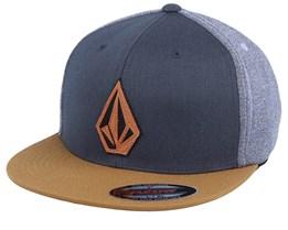 Stone Stack Hat Charcoal/Rust Snapback - Volcom