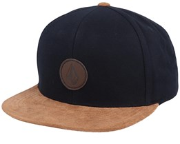 Quarter Fabric Led Black/Brown Snapback - Volcom