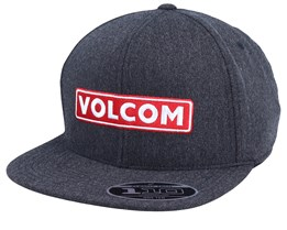 Bartar Dark Grey/Red/White 110 Snapback - Volcom