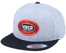 Cresticle Heather Grey/Black Snapback - Volcom
