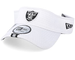 Oakland Raiders On Field 19 Training White Visor - New Era