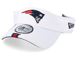 New England Patriots On Field 19 Training White Visor - New Era