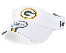Green Bay Packers On Field 19 Training White Visor - New Era