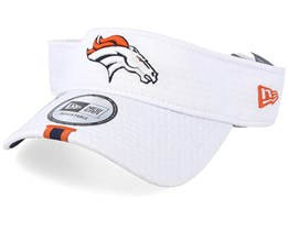 Denver Broncos On Field 19 Training White Visor - New Era